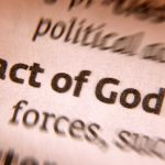 "close up of a dictonionary term ""act of god"" showing a close up of the definition in plain text"